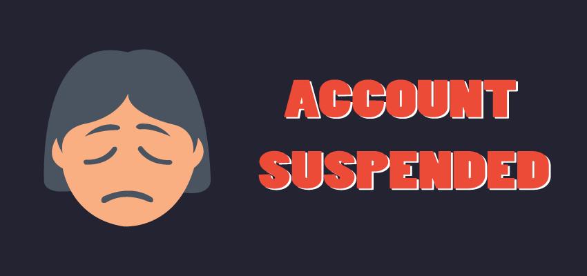 Account suspension in Xbox