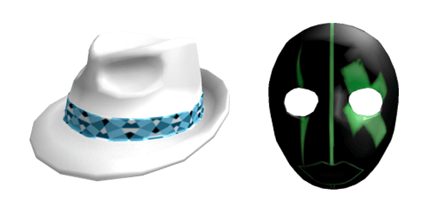 White hat and DJ Kryptonik mask