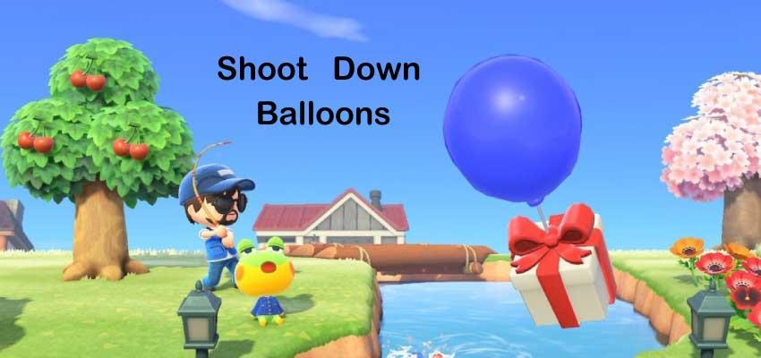 Shoot Down Balloons Animal Crossing: New Horizons Tips