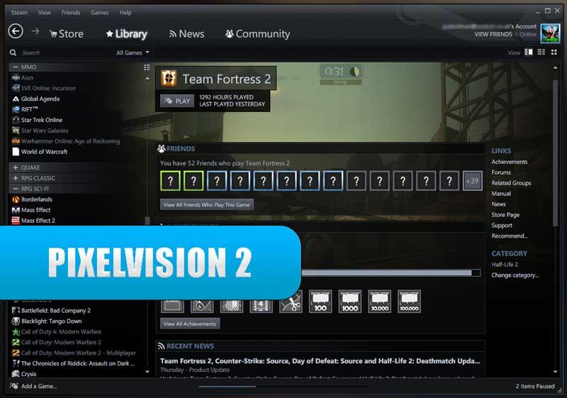 PixelVision 2 - best steam skin