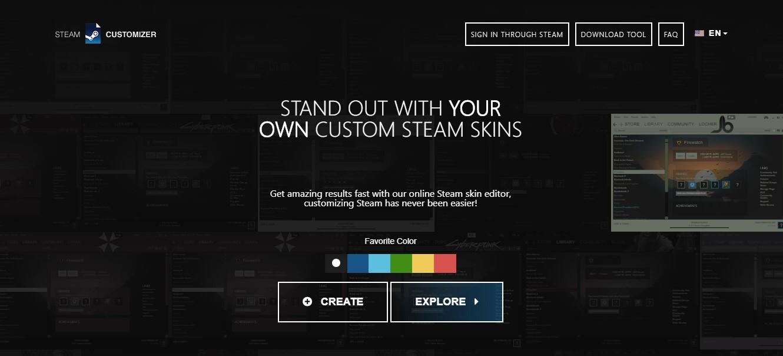 Steam customizer