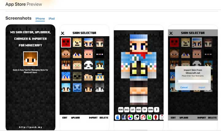 My Skin Editor for Minecraft