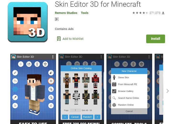Skin Editor 3D for Minecraft Skin Maker App