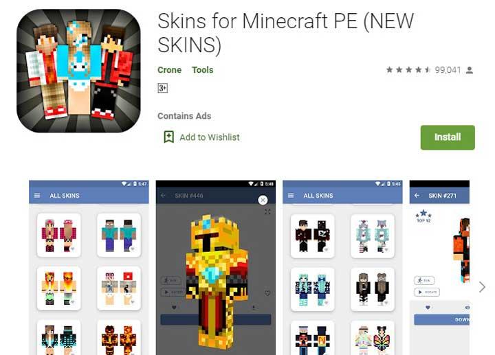 Skin for Minecraft PE