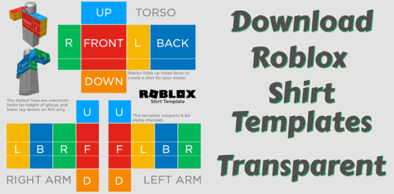 Roblox transparent Shirt templates available for download